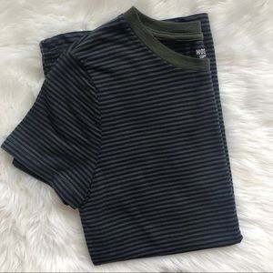 Olive Green Navy Striped T-Shirt